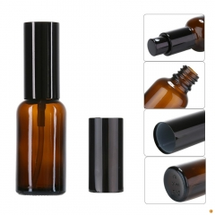 100ML Brown Empty Amber Glass Bottle Essential Oil Mist Spray Aromatherapy Liquid Container Refillable Beauty Case Atomizer