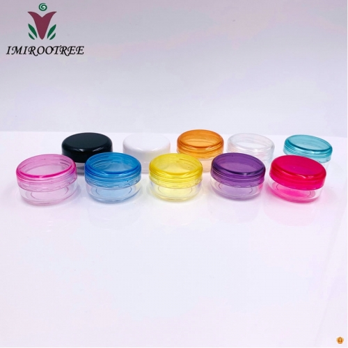 10pcs/lot 3g Round Empty Cosmetic Container,Small Sample Nail Art Canister,Eyeshadow Cream Jar