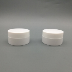 100pcs/lot 10g White plastic jar with hollow bottom,  empty cosmetic packaging container for facial cream