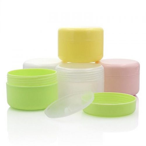 20pcs/lot 10g plastic colored small cosmetic cream jar empty refillable mini container for eye cream