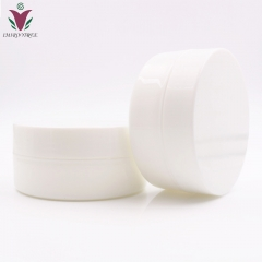 Free shipping 120pcs/lot 5g PP White cosmetic container for eye cream, plastic empty cream jar with hollow bottom
