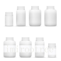 100pcs/lot 20ml HDPE white empty plastic pill bottle with Tamper proof Cap, empty capsule bottle with good quality