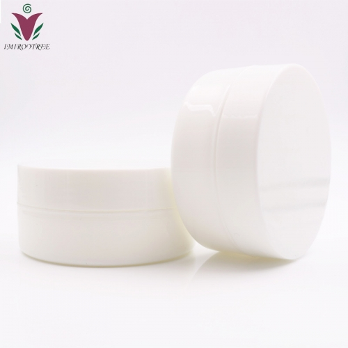 Free shipping 200pcs/lot 10g  PP White Make Up Small cream Jar with inner lids, plastic cosmetic container for eye cream