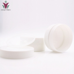 Free shipping 20pcs/lot 10g  PP White cosmetic jar with inner lids, Plastic empty hollow bottom cream jar