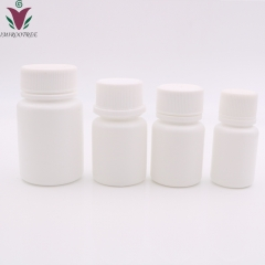 50pcs/lot 120ml 120cc HDPE white Capsule pill bottle, empty plastic refillable Pill container with CRC Cap