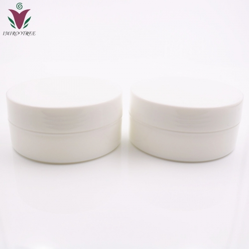 Free shipping 300pcs/lot 5g 5ml PP White small cosmetic jar containers,empty mini plastic cream jar with hollow bottom