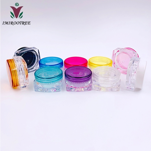 Free shipping 30pcs/lot 3g square cosmetic mini jar, plastic empty cream small jars container