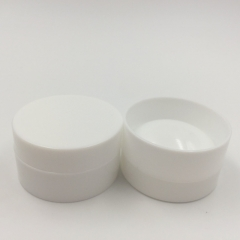 Free shipping 100pcs/lot 3g  white empty makeup cosmetic small jars, plastic sample cream containers with hollow bottom