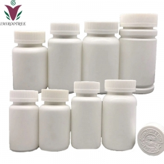 Free shipping 100pcs/lot 15ml HDPE Empty plastic refillable Pharmaceutical pill bottles container with screw cap