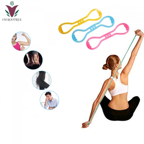 Rally Body Shaping Pull Rope Silicone Puller high Elastic Yoga 8 Word Stretch with Chest Fitness Equipment