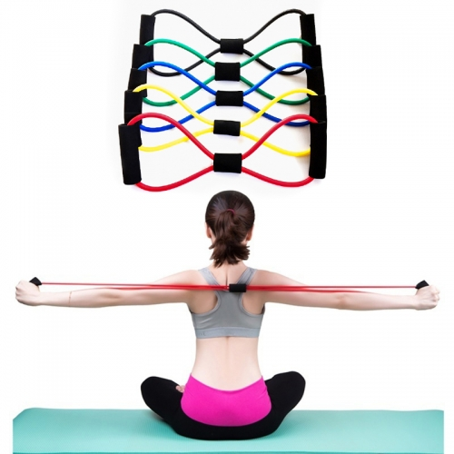 Free Shipping 【Ready Stock】1pc Colorful Resistance Band Yoga Pilates Abs Exercise Stretch Fitness Tube Workout Bands