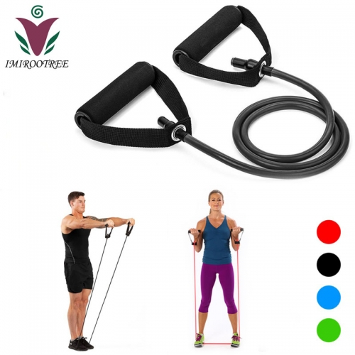 Unisex Yoga Pull Rope Elastic Resistance Bands Fitness Rope for Fitness Equipment Expander Exercise Tube Training Set