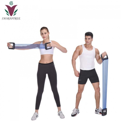 Resistance Bands Fitness Gum Gym Chest Expander Puller Exercise Fitness Resistance Elastic Cable Rope Tube Yoga Workout