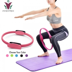 Magic Circle Yoga Pilates Ring Toning, Power Resistance Exercise Circle,Sculpting, Strength and Flexibility, Thigh Toner Fitness
