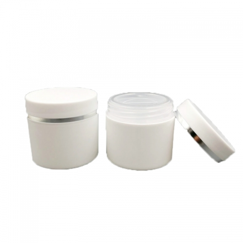 16pcs/lot 30g double layer face mask cosmetic jar,  plastic empty refillable container for skin care cream