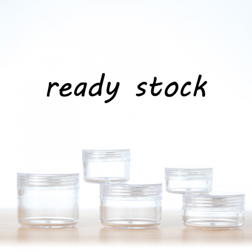 50pcs/lot 15g empty cream jar,  clear plastic jar with screw cap