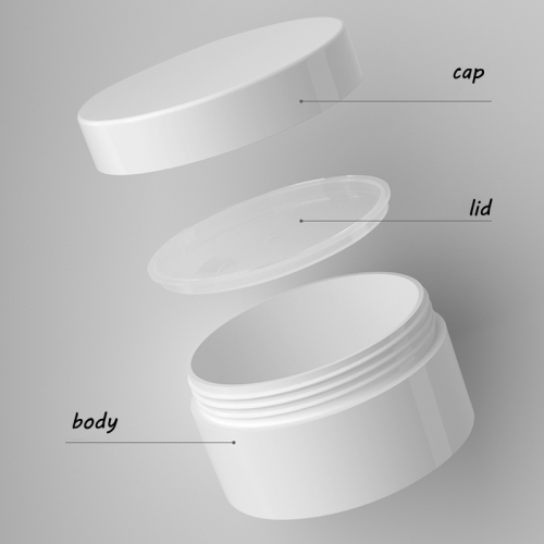 12pcs/lot 10g White cosmetic jar with inner lids, Plastic empty hollow bottom cream jar for skin care cream