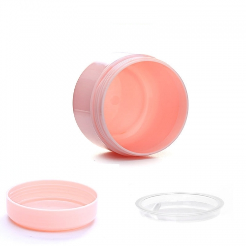 12pcs/lot 50g 50ml plastic cream jar with 6 different colors,  empty makeup container for cosmetic packaging