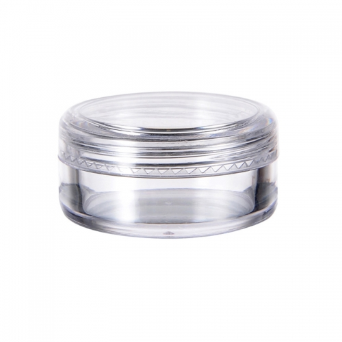 120pcs/lot 10g travel refillable bottle plastic clear cylinder cosmetic small jar glitter nail powder container