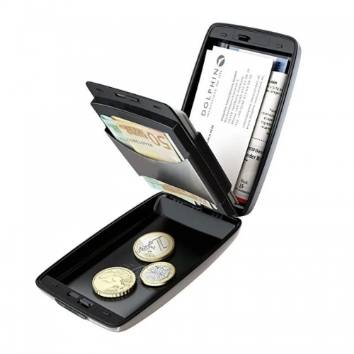 Freeship RFID Secure Wallet For Cash & Cards Wallet Case Card Holder Keychain Purse For Unisex
